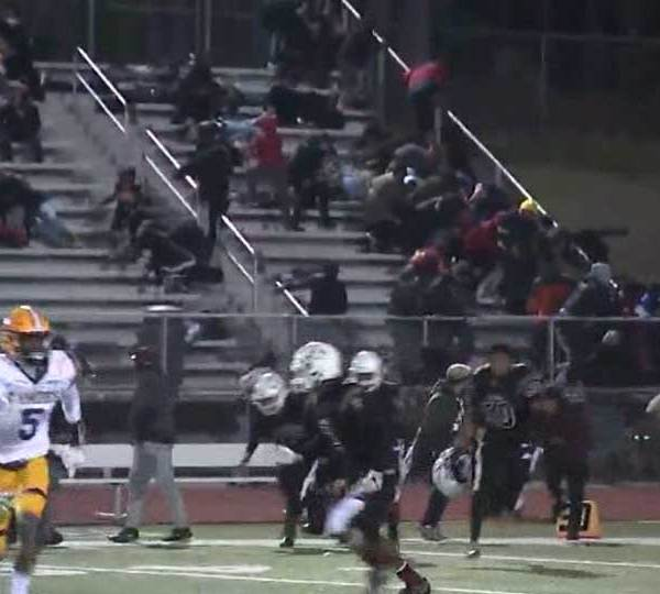 """Authorities have charged five men, including the alleged gunman, in connection with a shooting at a New Jersey high school football game that they said Saturday was the result of """"petty vengeance."""""""