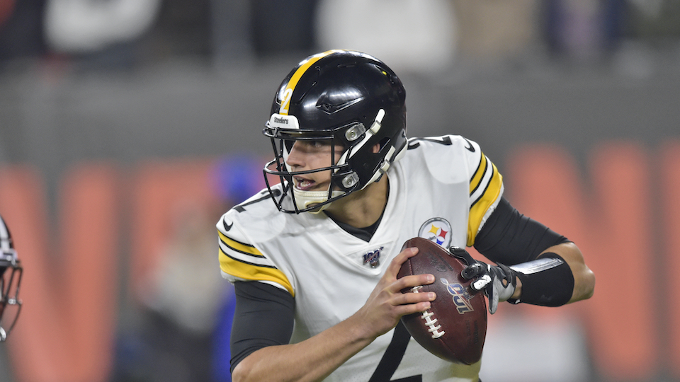 Pittsburgh Steelers quarterback Mason Rudolph
