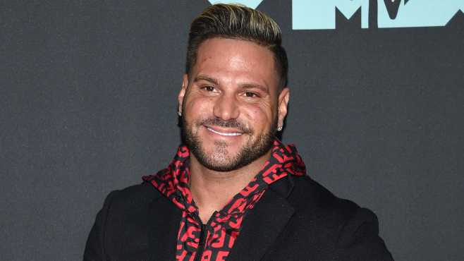 """FILE - This Aug. 26, 2019 file photo shows """"Jersey Shore"""" cast member Ronnie Ortiz-Magro at the MTV Video Music Awards in Newark, N.J. Ortiz-Magro pleaded not guilty to domestic violence, child endangerment, false imprisonment and other misdemeanors Friday, Nov. 8, after his arrest last month in the Hollywood Hills."""