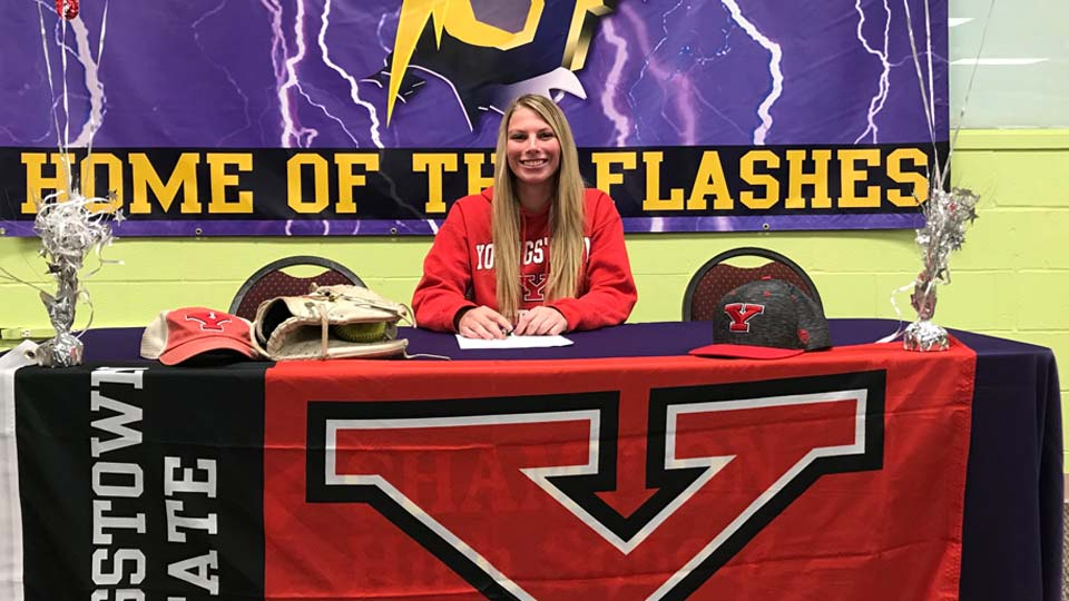 Champion's Softball standout Sophie Howell has signed her National Letter of Intent to play at Youngstown State.