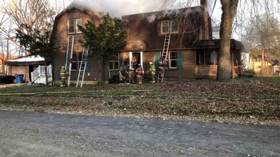 Struthers' fire chief says a baby was taken to the hospital after a fire.