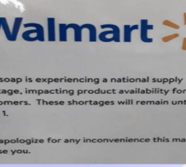Walmart dish soap shortage