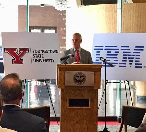 Youngstown State University and IBM have teamed up to fill a growing need for skilled workers in the artificial intelligence field.