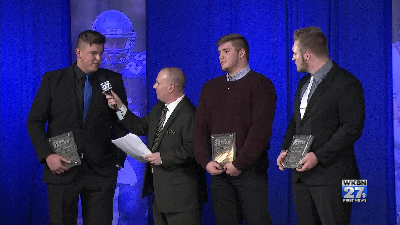 WKBN honored the top five linemen in the area Wednesday at the 14th annual Big 22 awards banquet