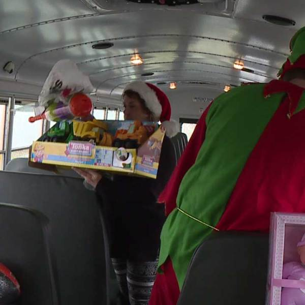 Boardman Schools and police teamed up for a Stuff the Bus Holiday Toy Drive on Saturday.
