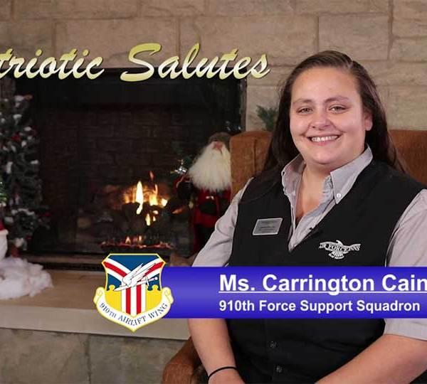 Carrington Cain, holiday salute