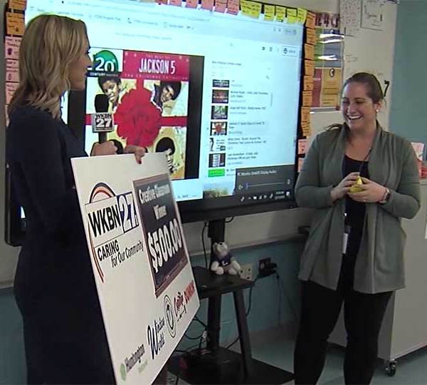 Lakeview Middle School teacher Marissa DeFrancesco is the first winner of WKBN's Creative Classroom Contest and plans to use her $500 winnings for a rooftop garden space.