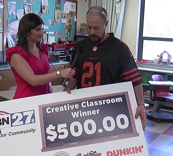 Boardman Glenwood Junior High School Teacher Eric Diefenderfer plans to use his $500 Creative Classroom winnings to purchase supplies for his students' pollinator project.