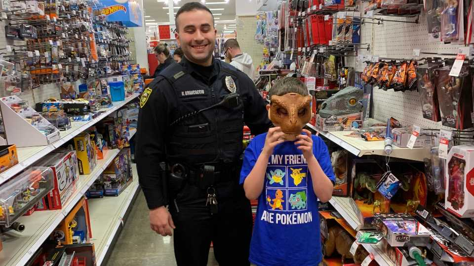 The Howland police union hosted its first Shop with a Cop at Target at the Eastwood Mall.