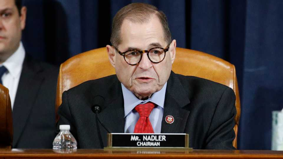 House Judiciary Committee Chairman Rep. Jerrold Nadler, D-N.Y., votes yes on the second article of impeachment against President Donald Trump during a House Judiciary Committee meeting.
