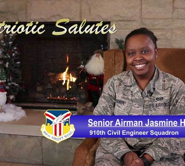Senior Airman Jasmine Handy is with the civil engineer squadron at the Youngstown Air Reserve Station.