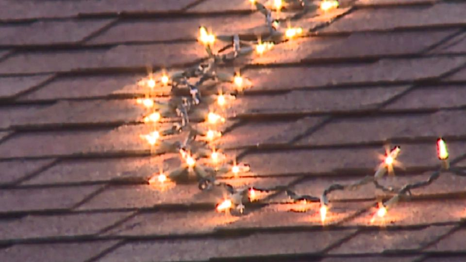 Neighbors bothered by woman's light display in Kansas.