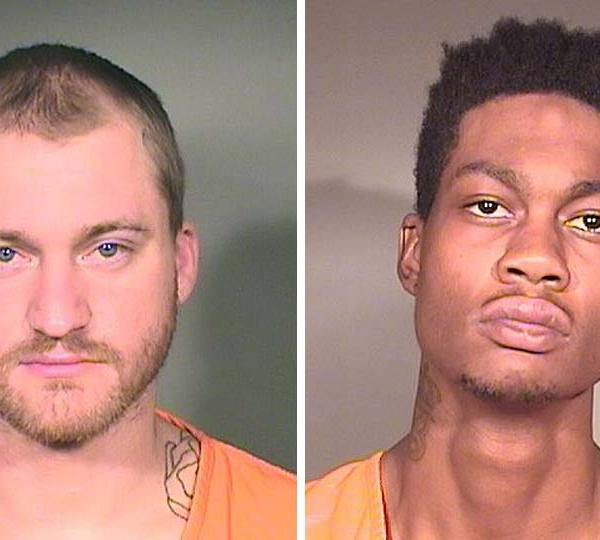 Quincy Webb and Marcus Harris, charged with robbery in Youngstown.
