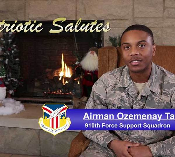 Airman Ozemenay Taylor is with the 910th Force Support Squadron at the Youngstown Air Reserve Station.