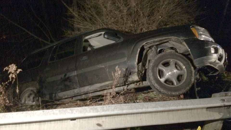 Slippery conditions caused an accident in Canfield.