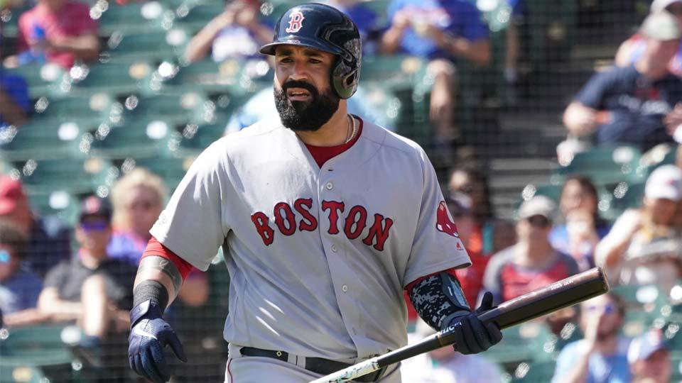 Boston Red Sox batter Sandy Leon