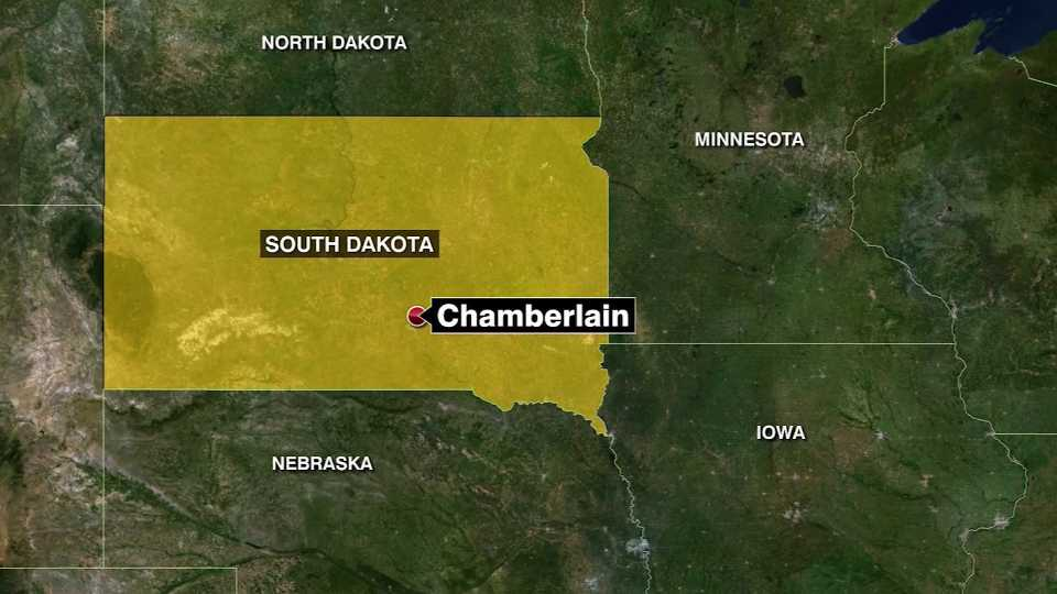 south dakota plane crash map