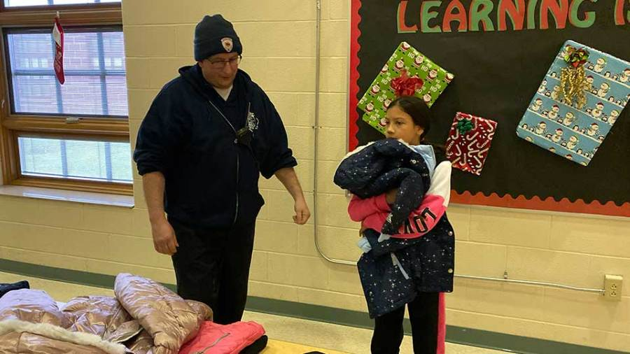 The Youngstown Professional Fire Fighters Local 312 are supplying 350 coats to city school students.
