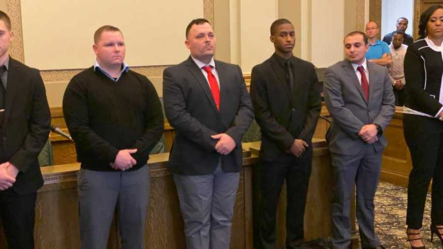 The Youngstown Police Department swore in six new officers Tuesday.