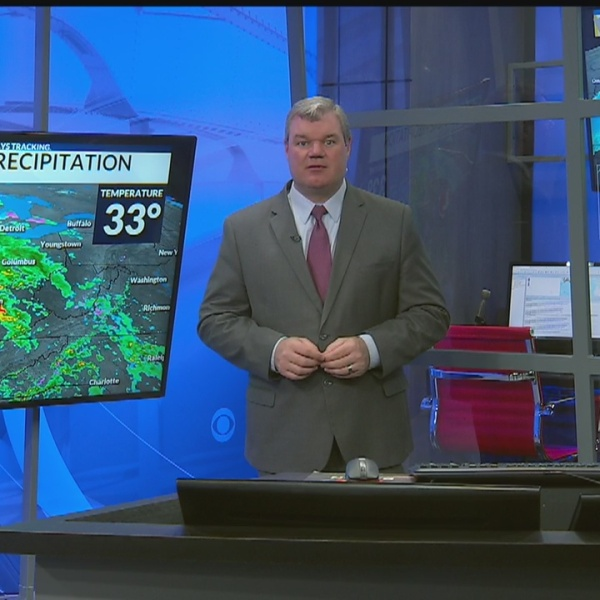 Rain showers will develop through your Friday