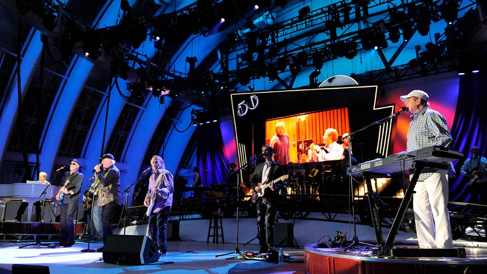 The Beach Boys perform at the Hollywood Bowl in Los Angeles