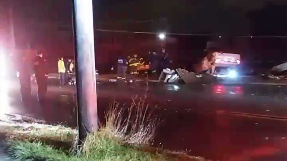 A car struck a pole and knocked out power in Youngstown.