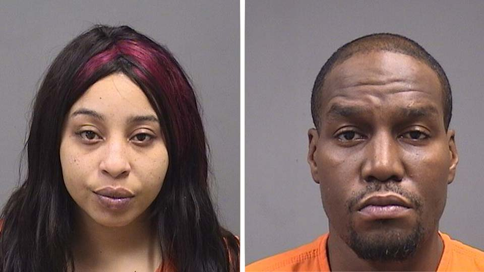 Diamond Mitchell and Angelo Wood, charged with possession of fentanyl in Youngstown.