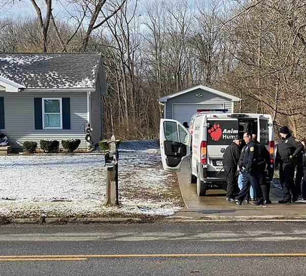 Police and humane agents are looking for a person who ran out of a home in the 4700 block of Glenwood Avenue Friday morning.