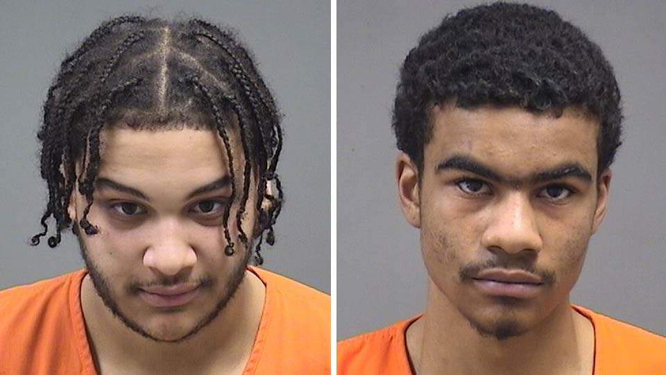 Kenneth Vaughn and Davon London, charged after a Youngstown officer was hit in the leg with an ATV.