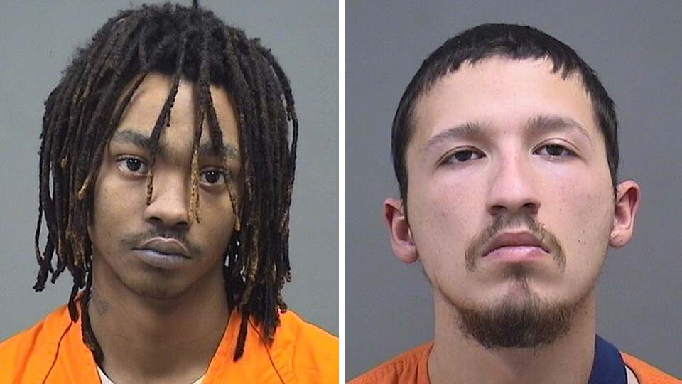Melvin Jackson, 18, of West LaClefe Avenue and Edgar Ramirez, 22, of Detroit Avenue, were booked into the Mahoning County jail on charges of aggravated robbery.