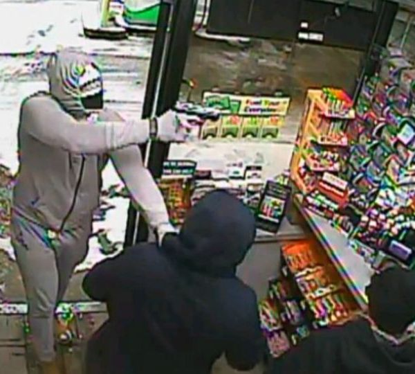 Police are looking for a suspect in the robbery of a BP gas station in Parkman, Ohio.