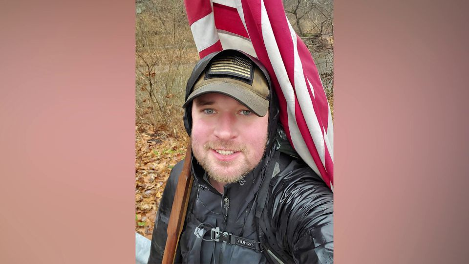 The goal of the 392-mile, 132-hour walk from Columbus, Ohio to the Arlington National Cemetery in Virginia is to raise $20,000 for the Save a Warrior Foundation and the organization Help Our Military Heroes.