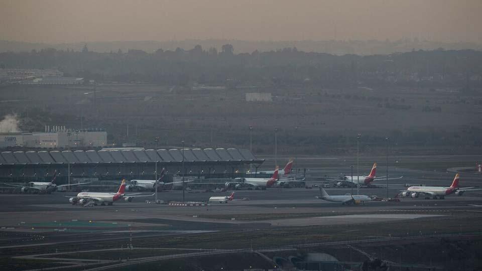 Adolfo Suárez-Barajas international airport in Barajas, outskirts of Madrid