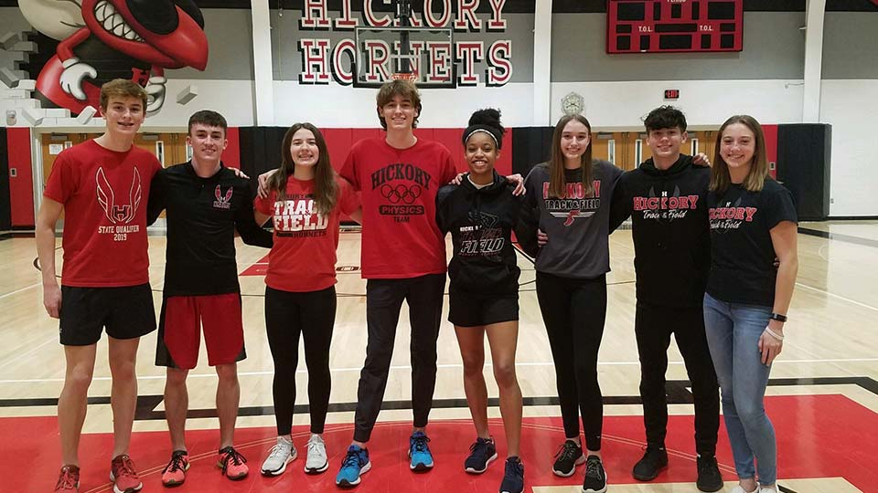 Hickory High School Hornets Indoor Track and Field State Qualifiers.