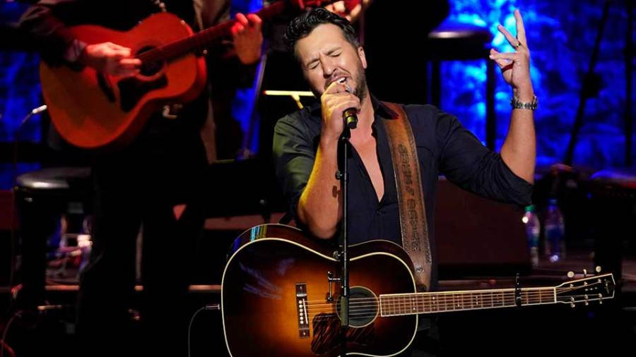 Luke Bryan performs during the induction ceremony of Brooks & Dunn at 2019 Medallion Ceremony at the Country Music Hall of Fame and Museum on Sunday, Oct. 20, 2019 in Nashville, Tenn.