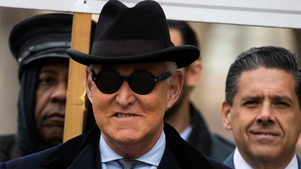 Roger Stone arrives at federal court in Washington
