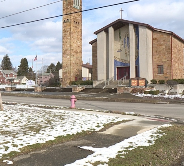 Santa Rosa de Lima Church in Youngstown where a fundraiser was held for the baby burned in the struthers fire in November