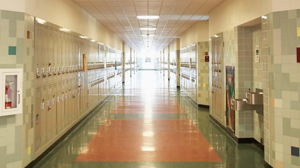 School Hallway Lockers generic