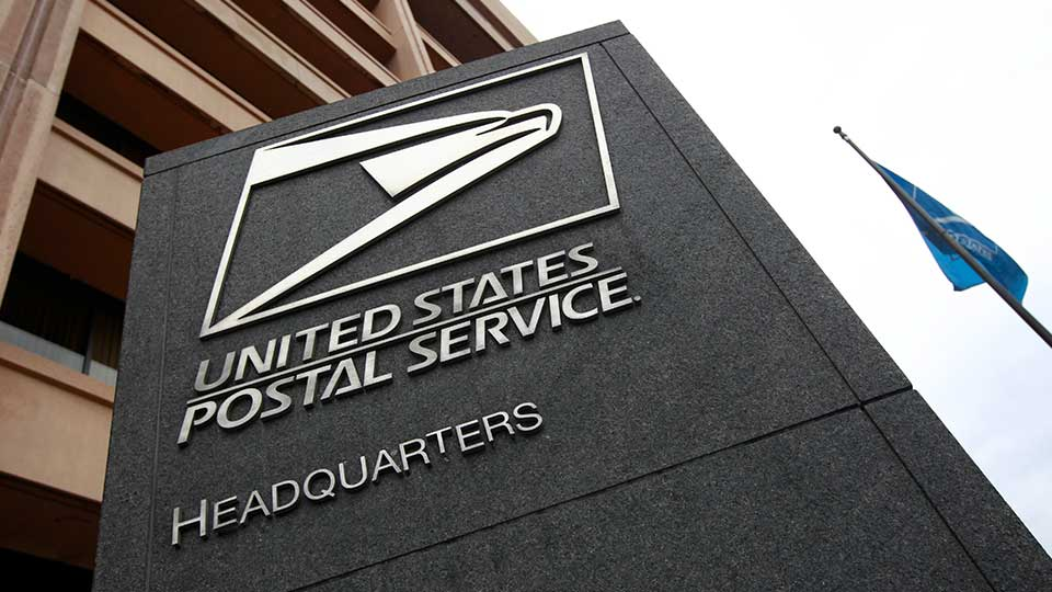 The United States Postal Service headquarters is seen in Washington, Monday, Dec. 5, 2011.