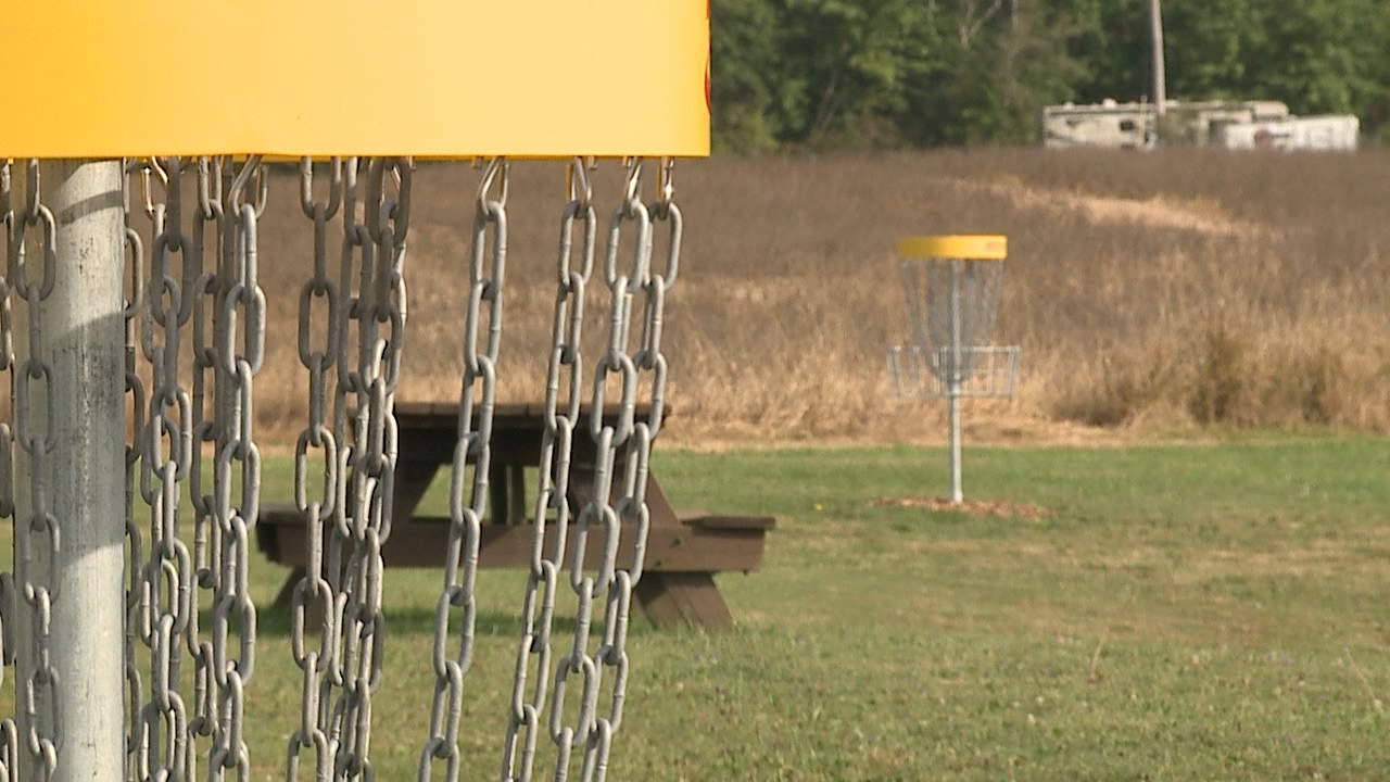 Boardman Park disc golf course designer Justin Edwards says it's free to play on your own while maintaining good distance from others