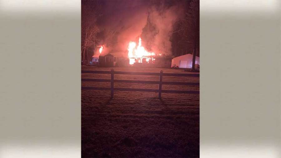 A fire destroyed a house in Braceville Township Thursday.