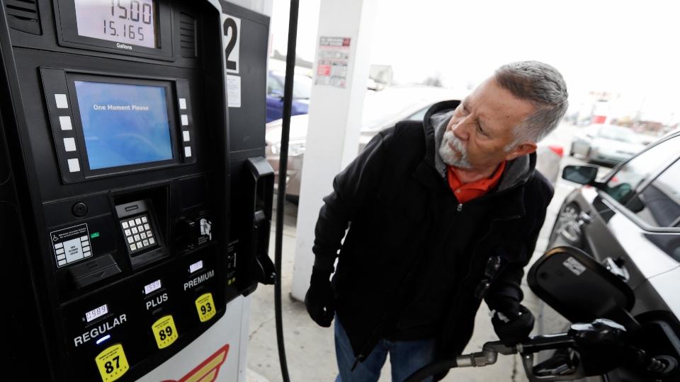Gas station, pump