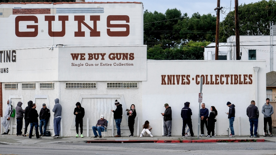 Gun shop, coronavirus