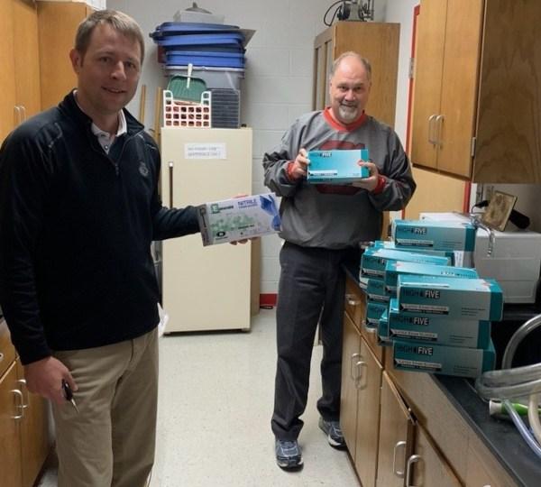 Jackson, Buzzard, Columbiana High School, donate PPE