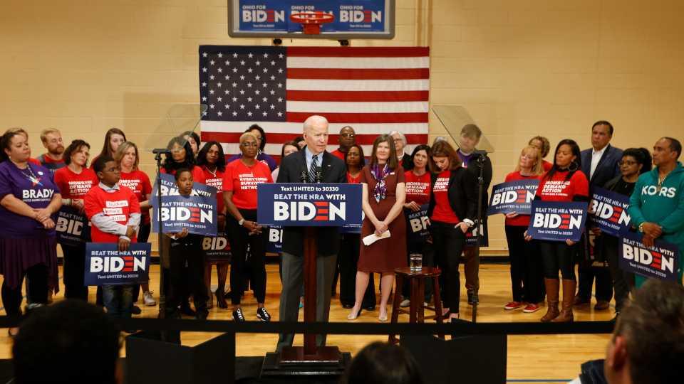 Joe Biden campaign rally