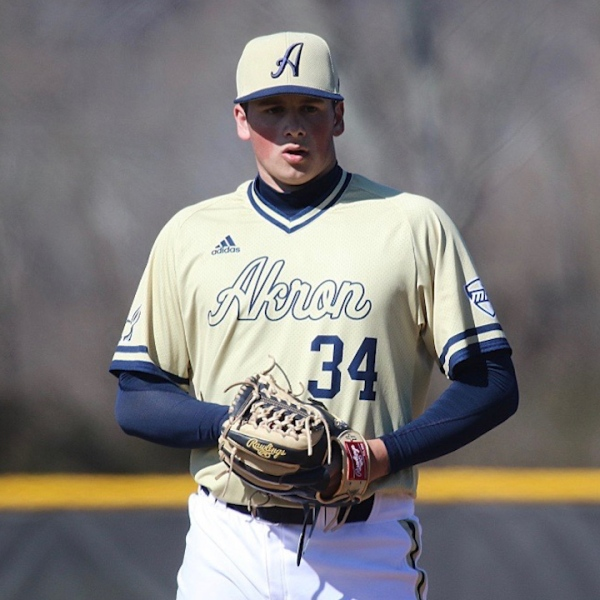 The former Lisbon pitcher had his freshman season cut short with the Zips after just 13 games this spring.