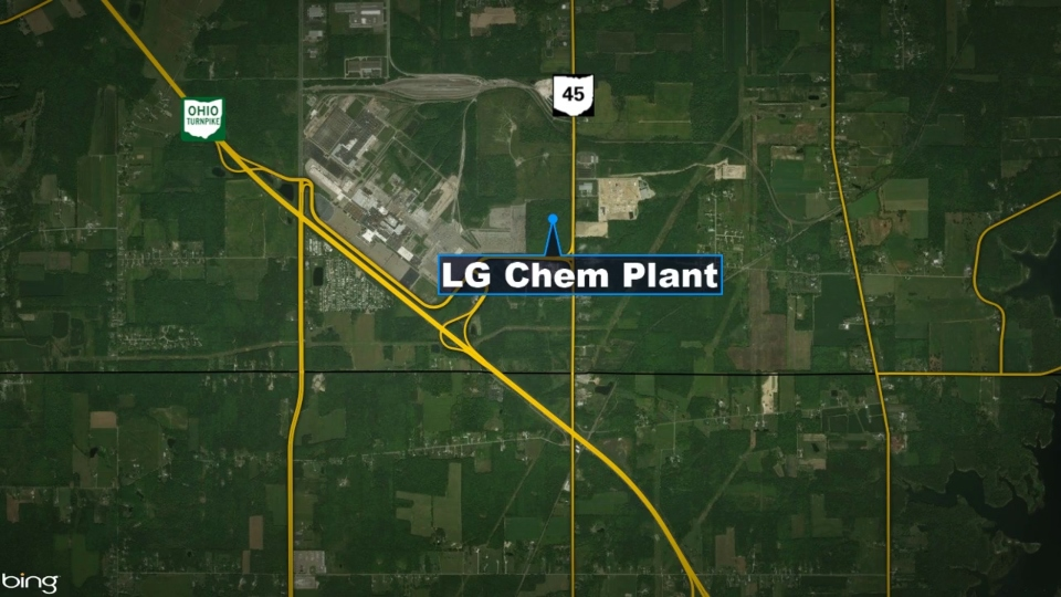 Proposed LG Chem GM battery plant in Lordstown