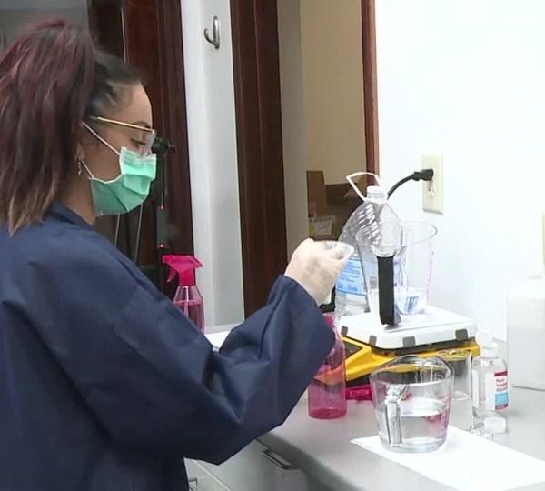 The Medicine Shoppe in New Castle making hand sanitizer during coronavirus pandemic
