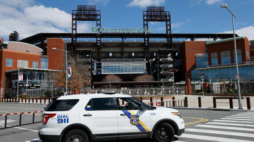On MLB's opening day, ballparks will be empty with the start of the season on hold because of the coronavirus pandemic