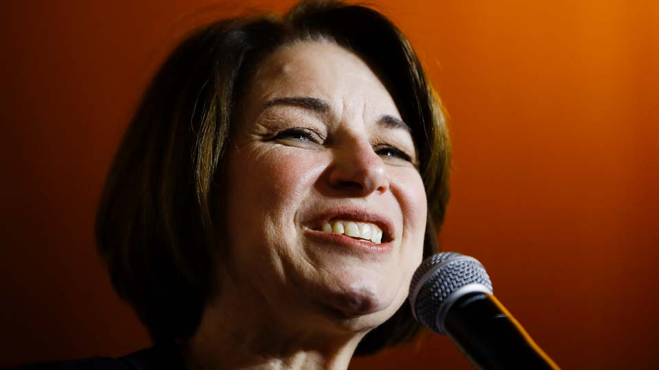 Democratic presidential candidate Sen. Amy Klobuchar, drops out